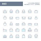 Bag Minimal Vector Icon Set (EPS 10)