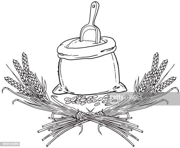 Illustrations et dessins anim s de farine getty images - Coloriage farine ...