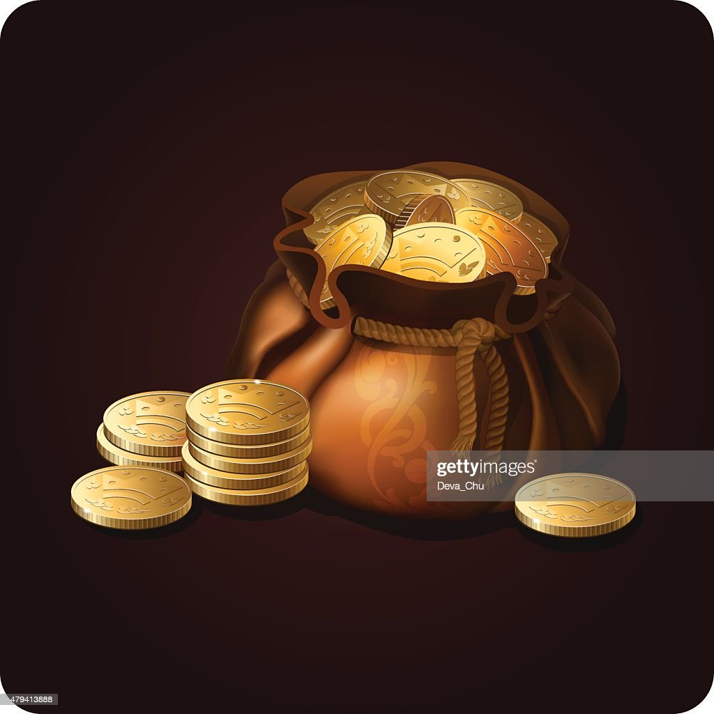 Bag with coins 1