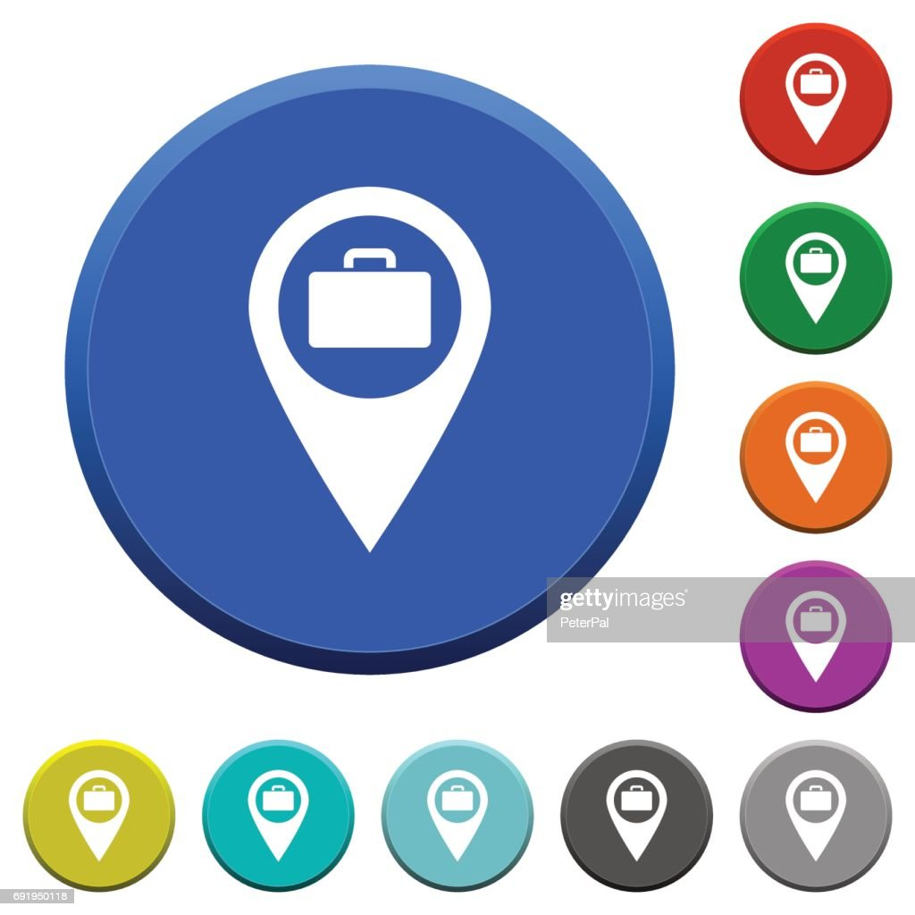 Baggage storage GPS map location beveled buttons