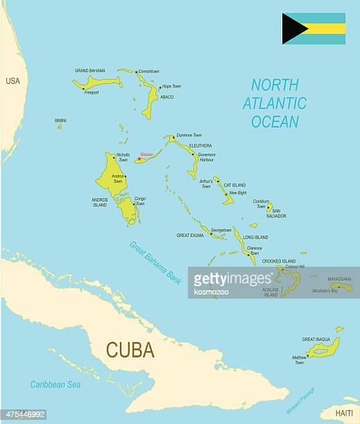 Bahamas Stock Illustrations And Cartoons Getty Images - Map usa bahamas