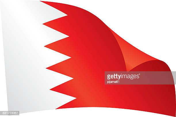 bahrain flag - bahrain stock illustrations, clip art, cartoons, & icons