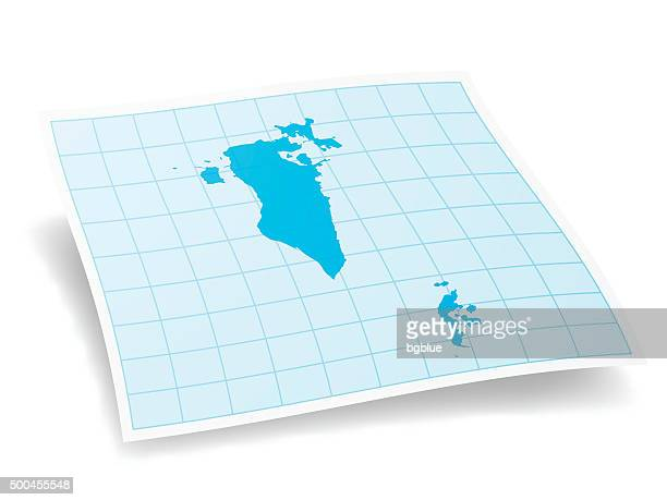 bahrain map isolated on white background - bahrain stock illustrations, clip art, cartoons, & icons