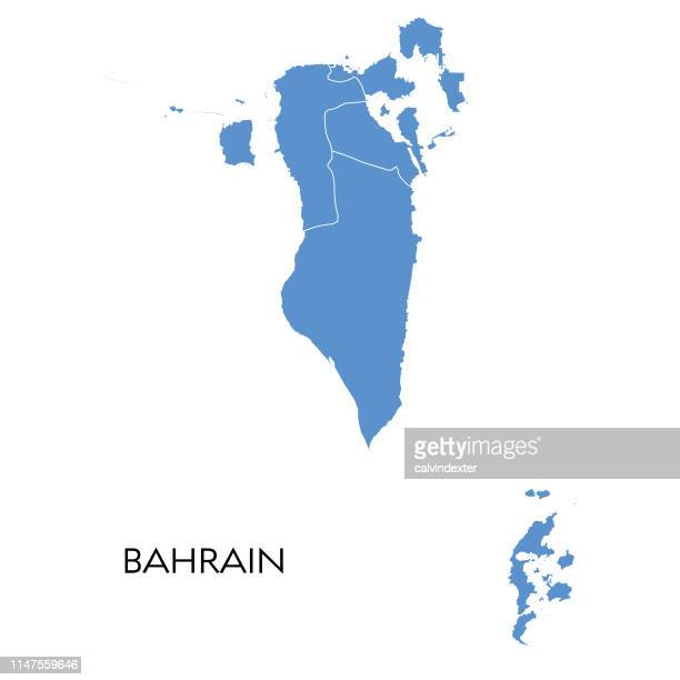 bahrain map - bahrain stock illustrations, clip art, cartoons, & icons