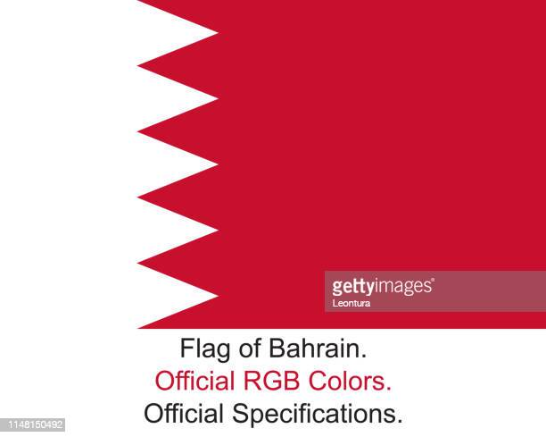 bahraini flag (official rgb colours and specifications) - bahrain stock illustrations, clip art, cartoons, & icons