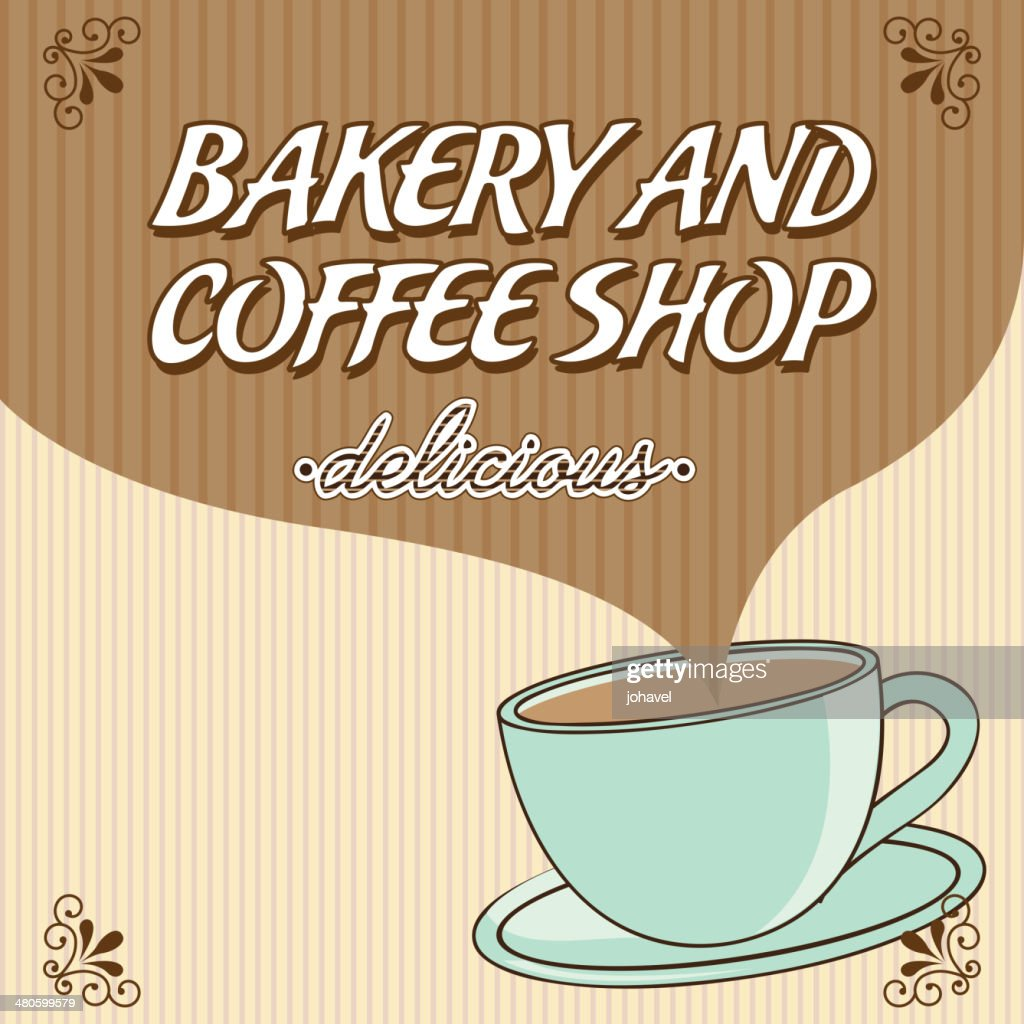 bakery and coffee : Vector Art
