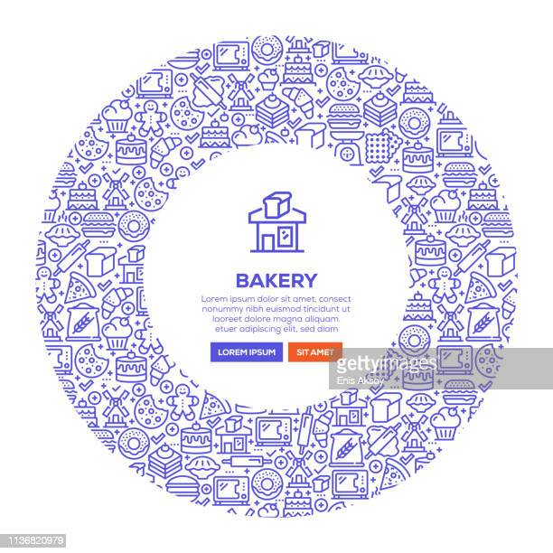 bakery banner - kitchen scale stock illustrations, clip art, cartoons, & icons