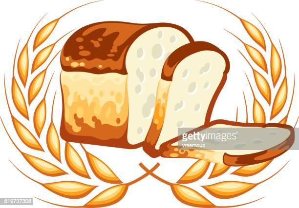 60 Top Loaf Of Bread Stock Illustrations Clip Art