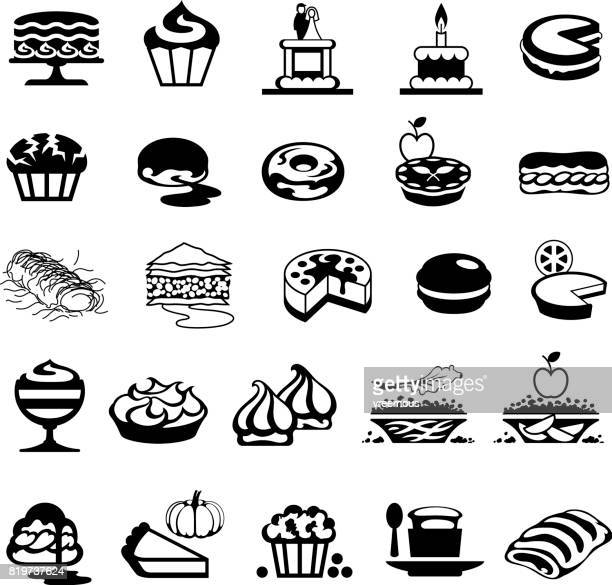 Bakery, Cakes and Desserts Icons