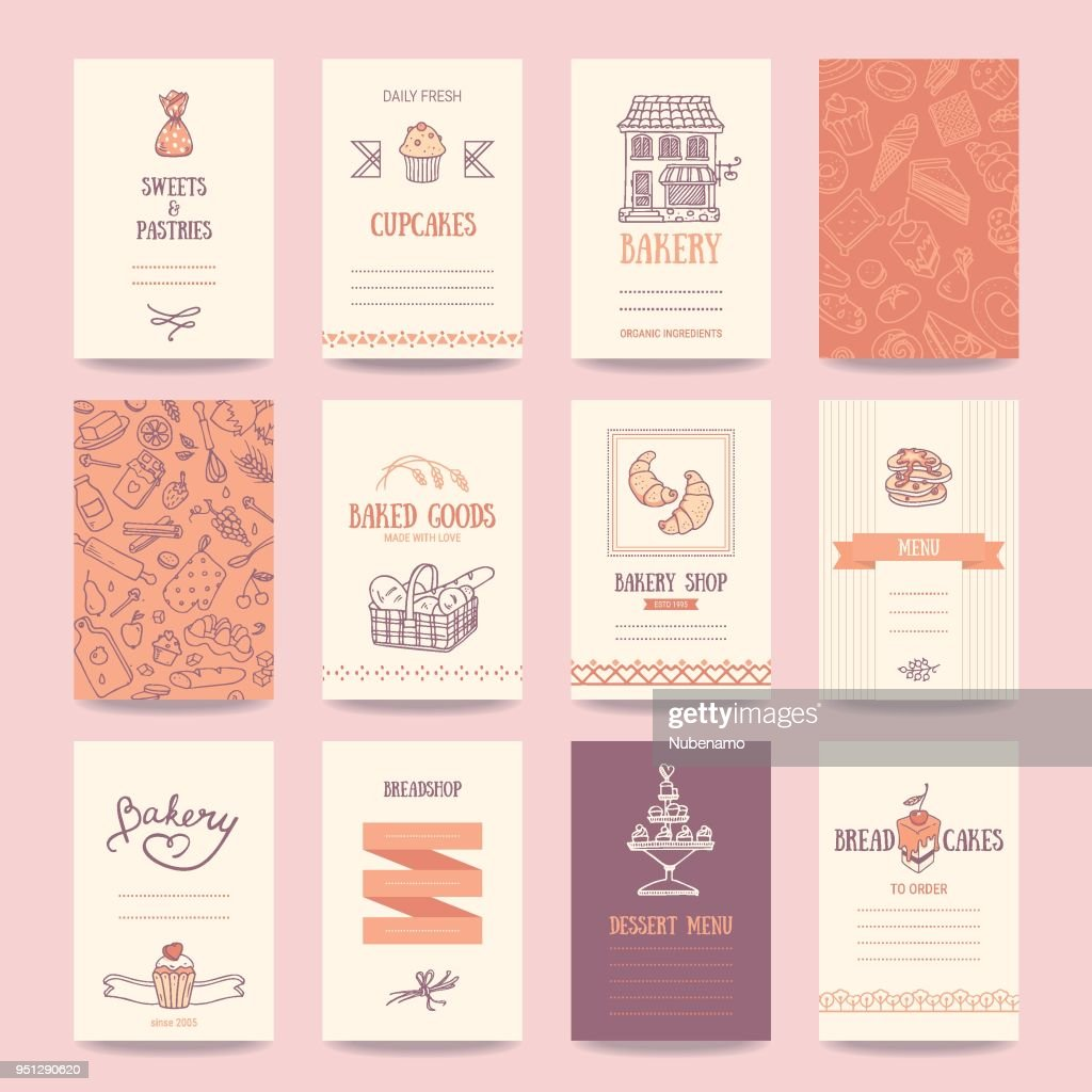 Bakery, Coffee Shop Business Cards, Menu Templates