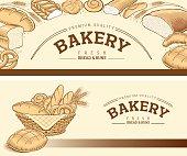 Bakery food item bread, baguette, buns