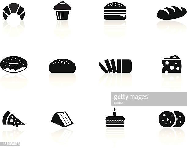 bakery foods icons - muffin stock illustrations, clip art, cartoons, & icons