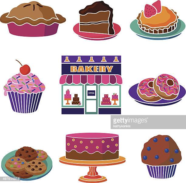 bakery goods - muffin stock illustrations, clip art, cartoons, & icons