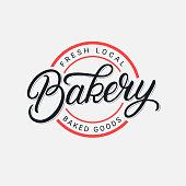 Bakery hand written lettering logo