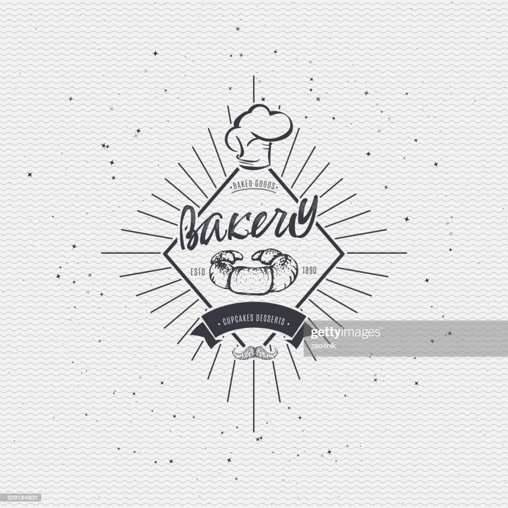 Bakery. Handwritten inscription. Hand drawn calligraphy lettering  typography badge. It