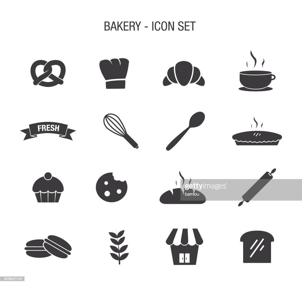 Bakery Icon Set : stock illustration