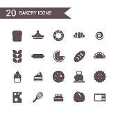 Bakery icon set vector.Silhouette icons.
