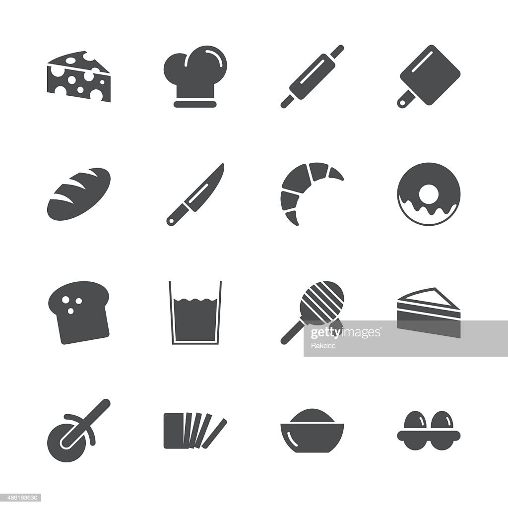 Bakery Icons - Gray Series : stock illustration