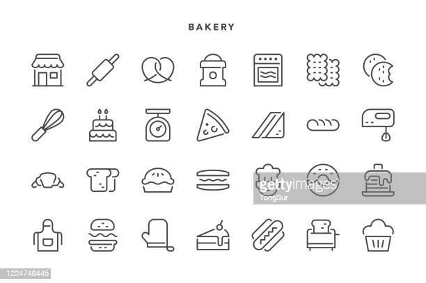 ベーカリーアイコン - 布の袋点のイラスト素材/クリップアート素材/マンガ素材/アイコン素材