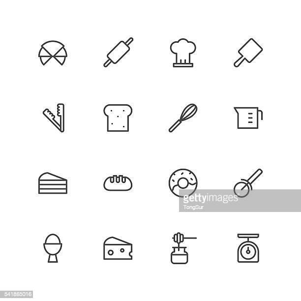 bakery icons - baked stock illustrations, clip art, cartoons, & icons