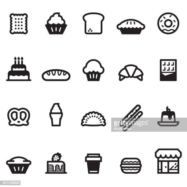 bakery icons - cornish pasty stock illustrations