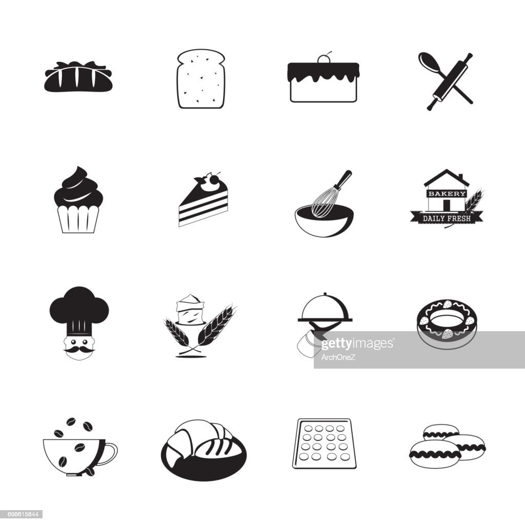 Bakery Icons_Black