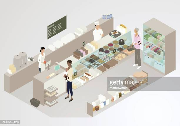 bakery illustration - mathisworks business stock illustrations