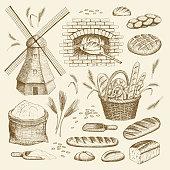 Bakery illustration.