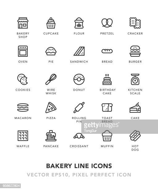 Bakery Line Icons
