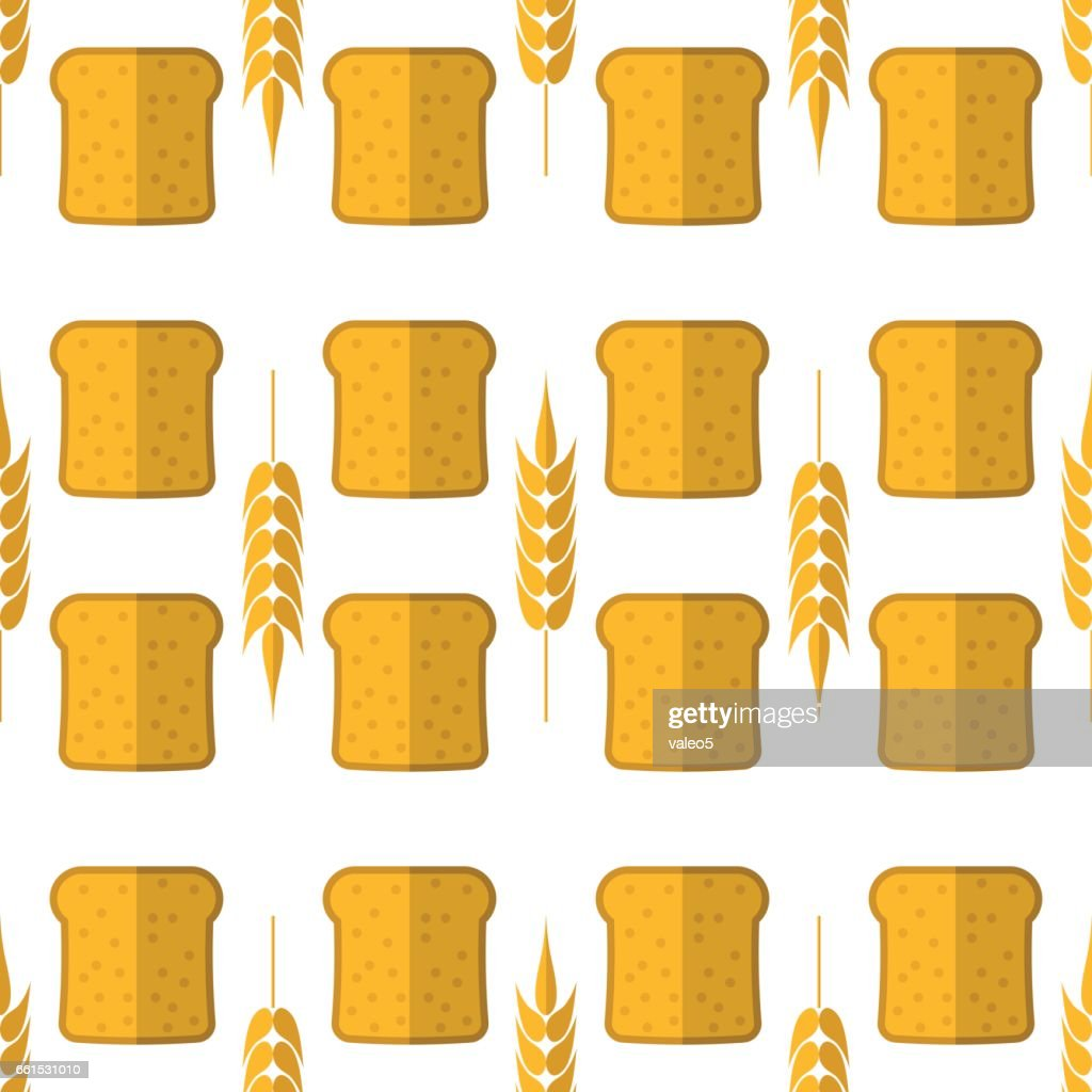 Bakery Seamless Pattern. Food Background