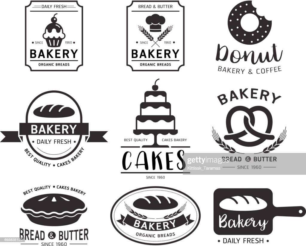 Bakery shop emblem.Vector illustration.
