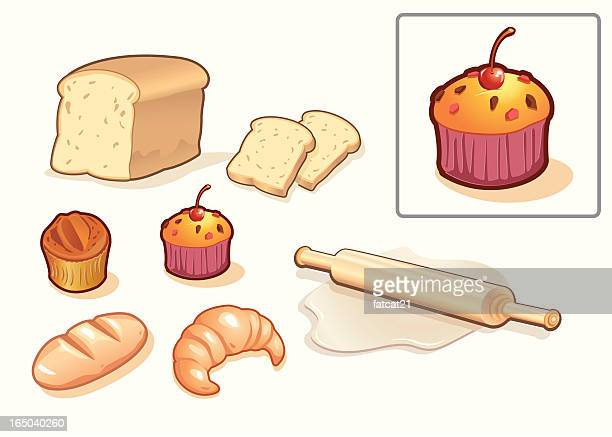 bakery shop - muffin stock illustrations, clip art, cartoons, & icons