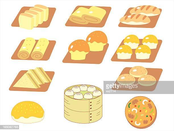 ilustraciones, imágenes clip art, dibujos animados e iconos de stock de panadería - al vapor