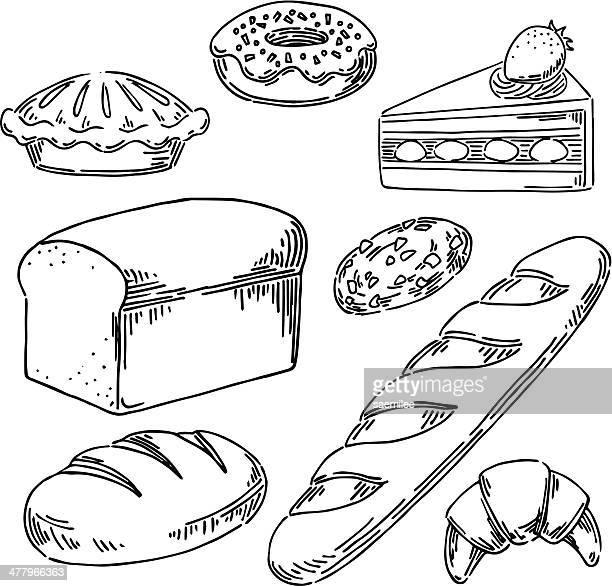 bakery - boulanger stock illustrations
