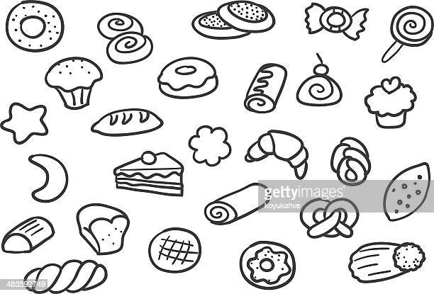 bakery - brownie stock illustrations, clip art, cartoons, & icons