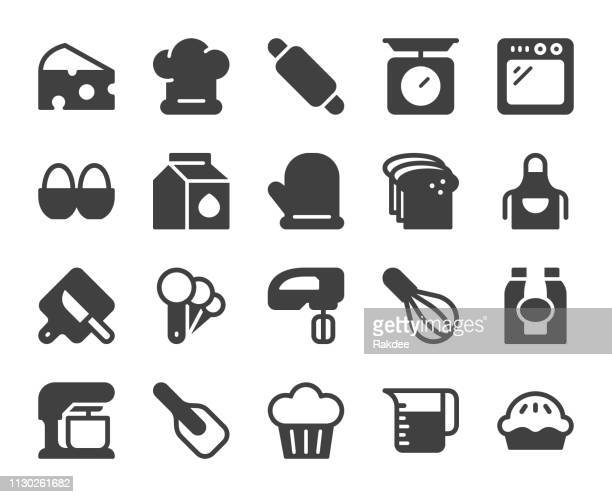 baking and bakery - icons - kitchen scale stock illustrations, clip art, cartoons, & icons