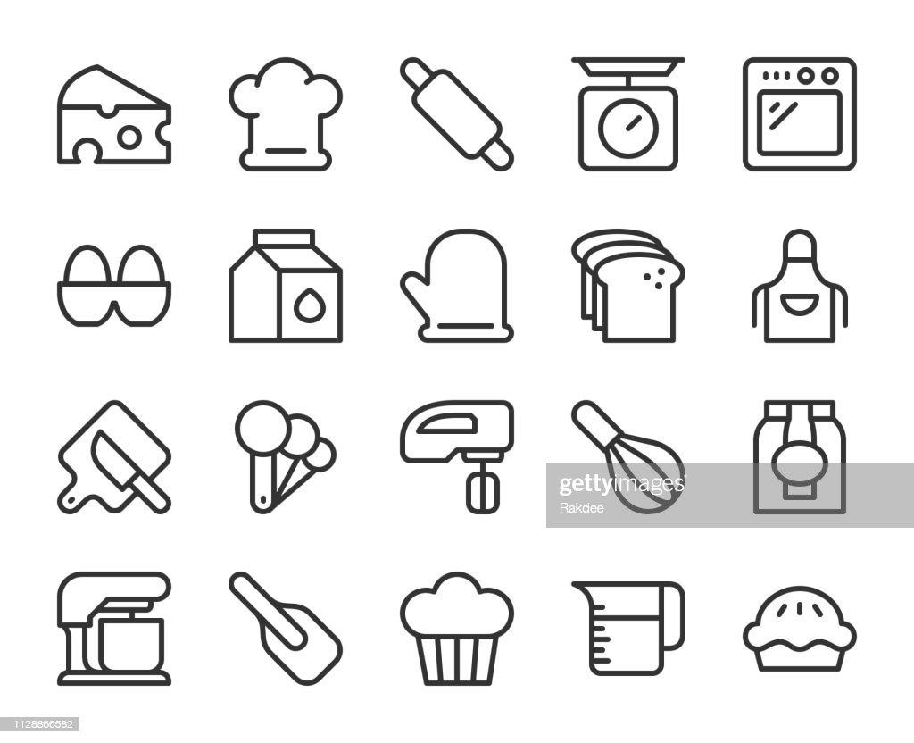 Baking and Bakery - Line Icons : stock illustration