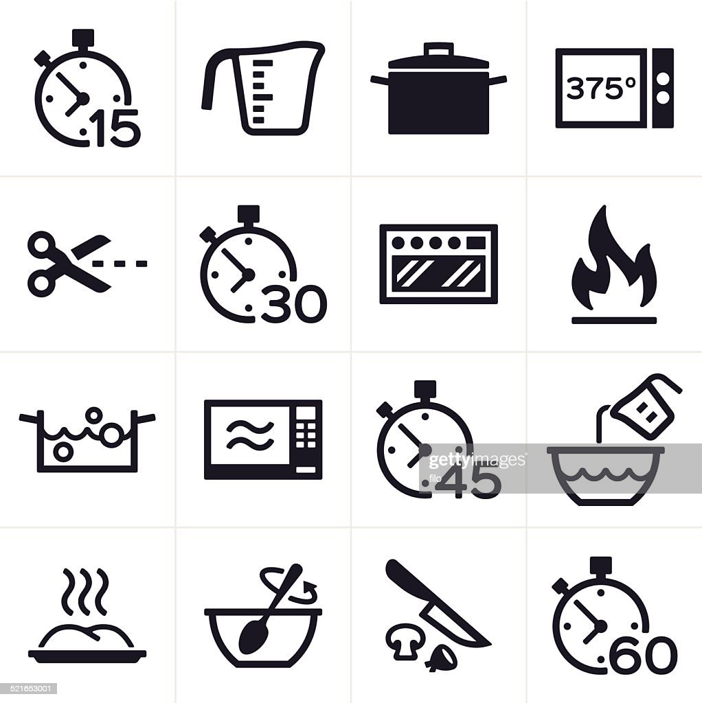 Baking and Cooking Icons : stock illustration