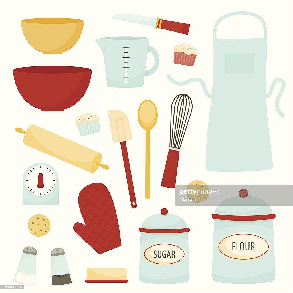 Baking and Kitchen Equipment : stock illustration