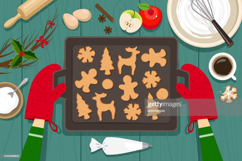 Baking cookies : stock illustration