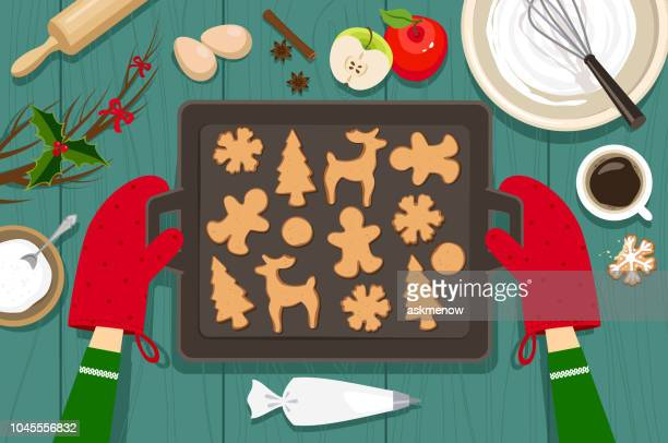 baking cookies - cookie stock illustrations, clip art, cartoons, & icons