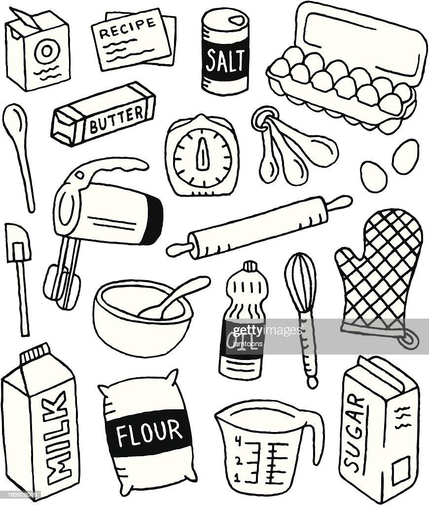 Baking Doodles : stock illustration