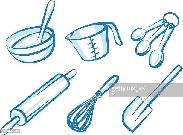 ilustrações de stock, clip art, desenhos animados e ícones de fazer doces elementos - batedor de ovos manual