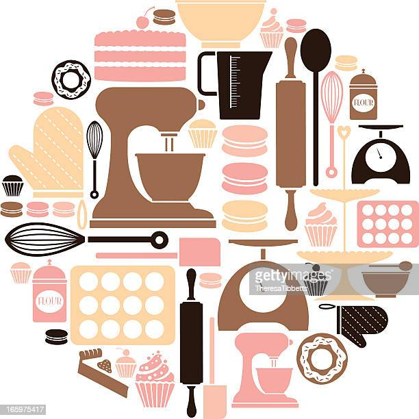 baking icon set - baked stock illustrations, clip art, cartoons, & icons