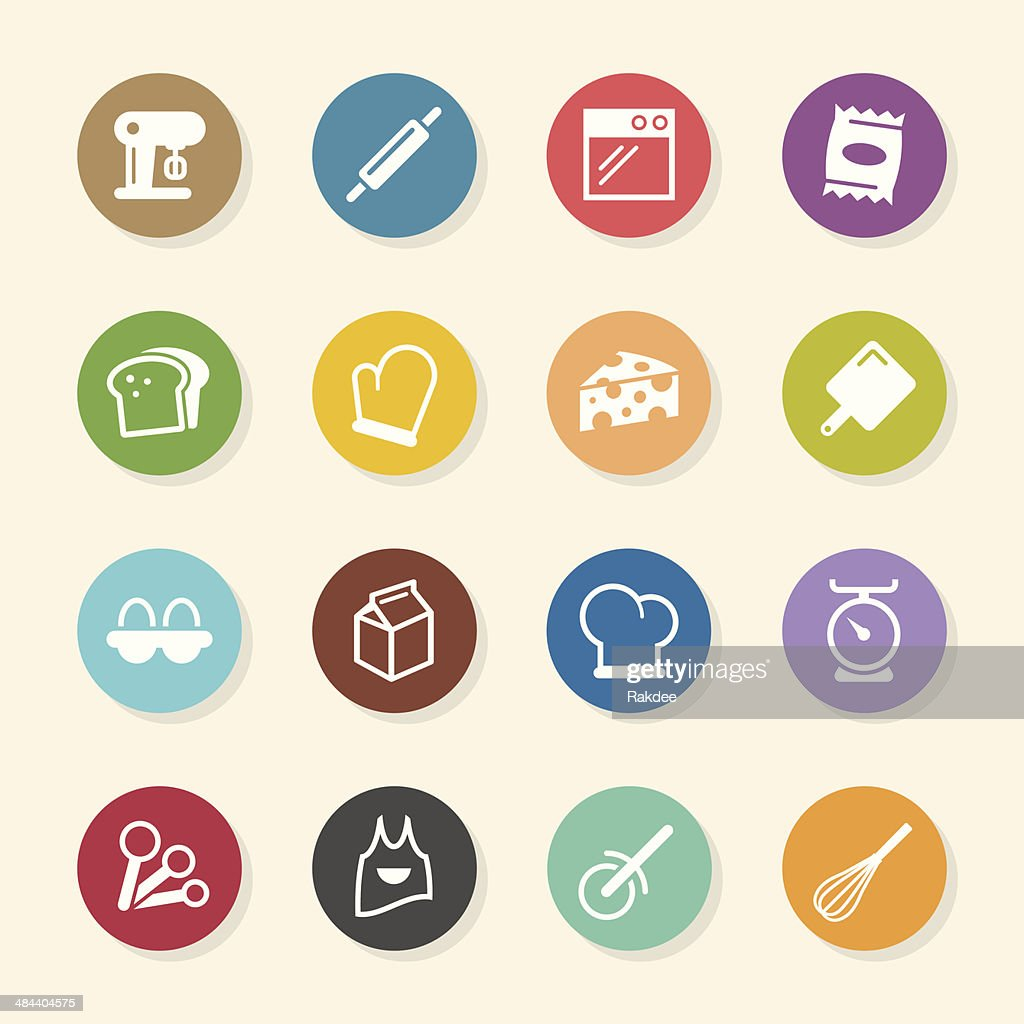 Baking Icons - Color Circle Series
