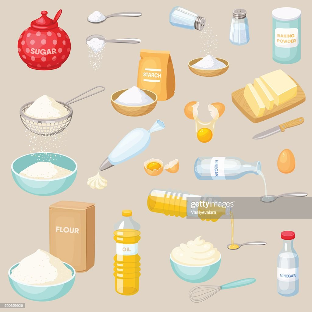 Baking ingredients set