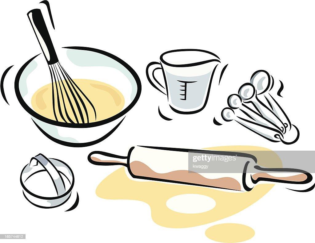 Baking Supplies : stock illustration