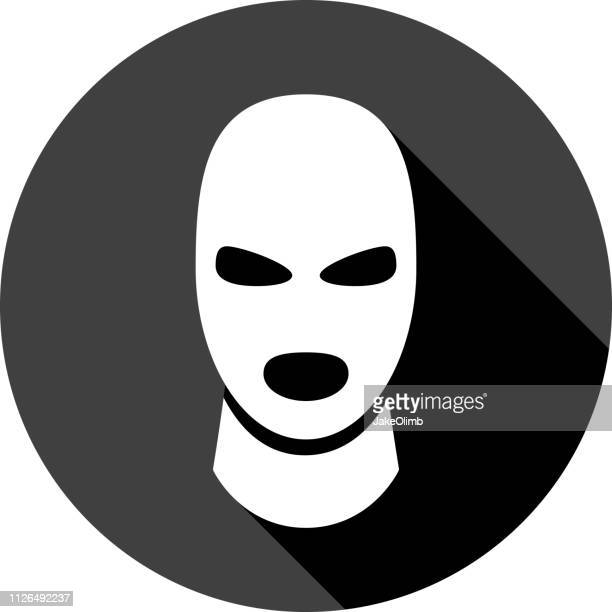 balaclava icon silhouette 2 - balaclava stock illustrations