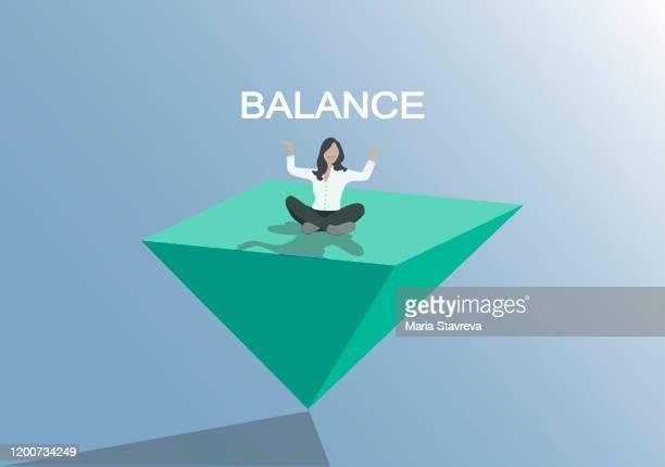 バランスコンセプト。仕事と生活のバランスのシンボル。 - 柔軟性点のイラスト素材/クリップアート素材/マンガ素材/アイコン素材
