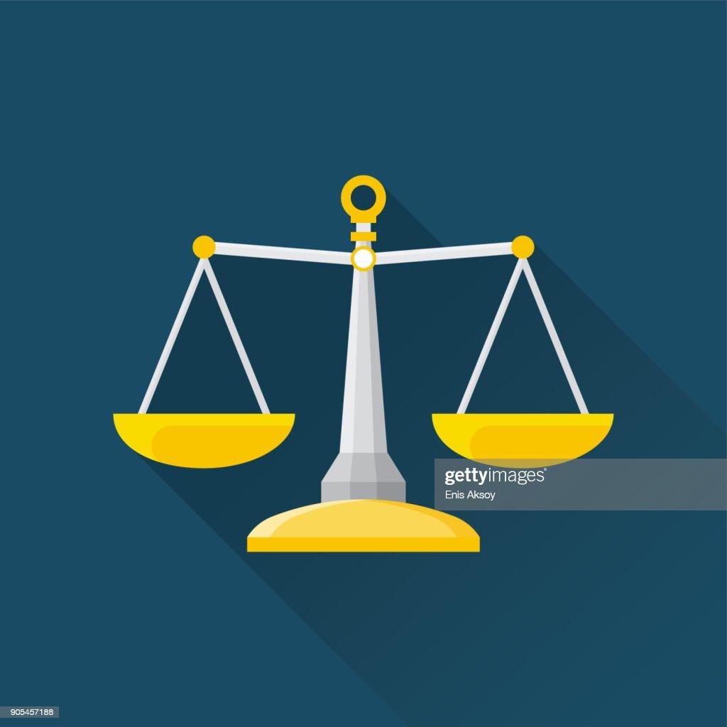 Balance Flat Icon : Stock Illustration